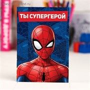 Блокнот А6 32л на скрепке MARVEL Человек-паук   3609162