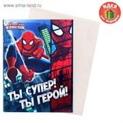 """Блокнот-открытка """"Ты супер! Ты герой!"""", Человек Паук 1149310"""