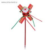"""Карнавал ручка """"Дедушка мороз"""" с бантиком 1110391"""