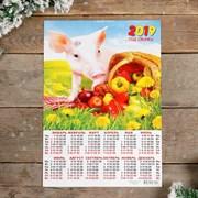 """Календарь листовой А3 """"Символ года - 2019 - 6"""" 29х42см   3577294"""