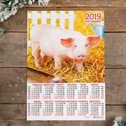"""Календарь листовой А3 """"Символ года - 2019 - 17"""" 29х42см   3577305"""