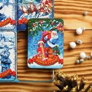 """Магнит новогодний деревянный """"Шестёрка"""" с голографией, 6×4 см 2933295"""