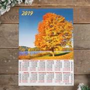 """Календарь листовой А3 """"Природа - 2019 - 7"""" 29х42см   3577317"""