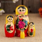 Матрёшка «Семёновская», желтый платок, 4 кукольная, 9 см 1040179