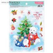 Бумажные наклейки  «Все исполнит Новый год», 14,5 х 21 см   3528712