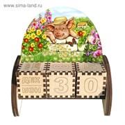 Вечный календарь «Кабанчик», 10,5×10×5 см 3805795