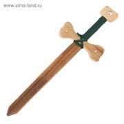 """Сувенир деревянный """"Меч рыцаря"""", 45 см, массив бука"""