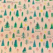 Бумага упаковочная крафтовая Winter, 50 × 70 см