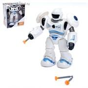 Робот «Полицейский» стреляет присоской, световые и звуковые эффекты, цвета МИКС