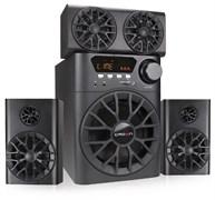 (1014400) Акустическая система 3.1 CROWN CMBS-700 (МДФ, Bluetooth, 30W+10W*4 (RMS)=70W; приёмник FM; картридер; интерфейс USB; IR пульт, микрофонный усилитель, дополнительная фронтальная колонка)