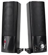 (1014398) Акустическая система 2.0 CROWN CMS-604 (USB, 6W; возможна установка в виде саундбара; управление громкостью, разъём для наушников и микрофона, регулятор громкости на корпусе, Длина кабеля между колонками 1м;Длина аудио-кабеля и питания 2м.)