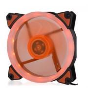 (1014397) Вентилятор для компьютерного корпуса CMCF-12025S-1233 (120*120*25мм, Оранжевое LED кольцо, 1500 об/мин, 35CFM, 20Дб, Подшипник скольжения, 3pin+MOLEX(папа-мама) 40+10см)