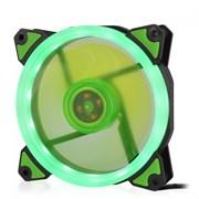 (1014396) Вентилятор для компьютерного корпуса CMCF-12025S-1232 (120*120*25мм, Зелёное LED кольцо, 1500 об/мин, 35CFM, 20Дб, Подшипник скольжения, 3pin+MOLEX(папа-мама) 40+10см)