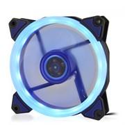 (1014395) Вентилятор для компьютерного корпуса CMCF-12025S-1231 (120*120*25мм, Синее LED кольцо, 1500 об/мин, 35CFM, 20Дб, Подшипник скольжения, 3pin+MOLEX(папа-мама) 40+10см)