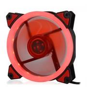 (1014394) Вентилятор для компьютерного корпуса CMCF-12025S-1230 (120*120*25мм, Красное LED кольцо, 1500 об/мин, 35CFM, 20Дб, Подшипник скольжения, 3pin+MOLEX(папа-мама) 40+10см)