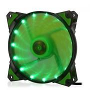 (1014392) Вентилятор для компьютерного корпуса CMCF-12025S-1222 (120*120*25мм, Зелёный 16LED, 1500 об/мин, 35CFM, 20Дб, Подшипник скольжения, 3pin+MOLEX(папа-мама) 40+10см)