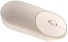 (1014423) Мышь Xiaomi Mi Portable Mouse золотистый оптическая (1200dpi) беспроводная BT для ноутбука (2but)