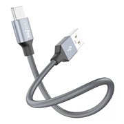 (1014420) Кабель USB Type-C Dotfes A03T Frosted (0,2m) tarnish