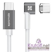 (1014417) Кабель USB Type-C to USB Type-C Promate MagLink-C магнитный 86W/20.2V, 4.3A (2m) white