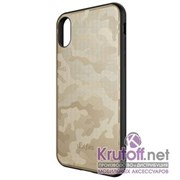 (1014407) Накладка Dotfes G07 Camouflage Style Case для iPhone X/XS (gold)