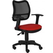 (1014512) Кресло Бюрократ CH-797AXSN/26-22 спинка сетка черный сиденье красный 26-22