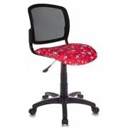 (1014529) Кресло детское Бюрократ CH-296/ANCHOR-RD спинка сетка черный сиденье красный якоря ANCHOR-RD