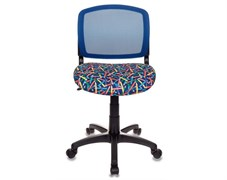 (1014530) Кресло детское Бюрократ CH-296/PENCIL-BL спинка сетка синий карандаши