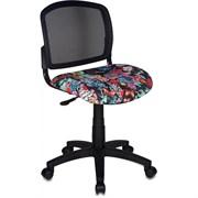 (1014532) Кресло детское Бюрократ CH-296NX/TATTOO спинка сетка черный сиденье черный черепа Tattoo