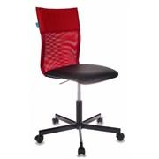 (1014494) Кресло Бюрократ CH-1399/R+B спинка сетка красный сиденье черный искусственная кожа крестовина металл