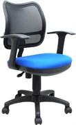 (1014511) Кресло Бюрократ CH-797AXSN/26-21 спинка сетка черный сиденье синий 26-21
