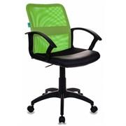 (1014508) Кресло Бюрократ CH-590/SD/BLACK спинка сетка салатовый сиденье черный искусственная кожа