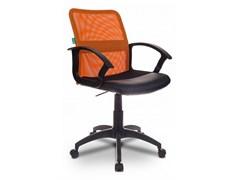 (1014507) Кресло Бюрократ CH-590/OR/BLACK спинка сетка оранжевый сиденье черный искусственная кожа