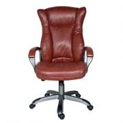 (1014560) Кресло руководителя Бюрократ CH-879DG/BROWN коричневый искусственная кожа (пластик темно-серый)