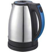 (1013023) Чайник Supra KES-2231 2.2л. 2200Вт серебристый/синий (нержавеющая сталь)