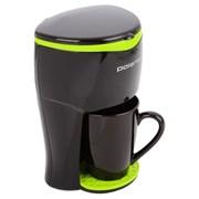 (1010785) Кофеварка капельная Polaris PCM0109 350Вт черный/салатовый