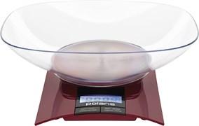 (1014444) Весы кухонные электронные Polaris PKS 0349DL макс.вес:3.2кг бордовый