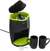 (1010786) Кофеварка капельная Polaris PCM0210 450Вт черный/салатовый