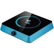 (1014631) Плита Электрическая Kitfort КТ-113-1 голубой/черный стеклокерамика (настольная)