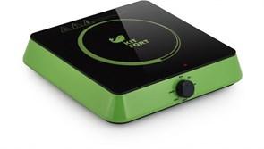 (1014632) Плита Электрическая Kitfort КТ-113-2 зеленый/черный стеклокерамика (настольная)