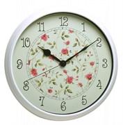 (1012991) Часы настенные аналоговые Бюрократ WallC-R23P белый