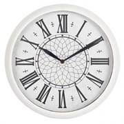 (1012993) Часы настенные аналоговые Бюрократ WallC-R26P белый