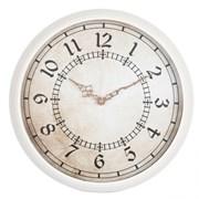 (1014696) Часы настенные аналоговые Бюрократ WallC-R27P белый