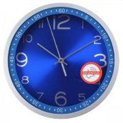 (1014694) Часы настенные аналоговые Бюрократ WallC-R05P синий
