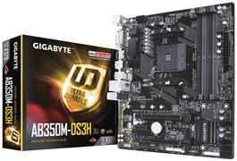 (1014803) Материнская плата Gigabyte GA-AB350M-DS3H V2 Soc-AM4 AMD B350 4xDDR4 mATX AC`97 8ch(7.1) GbLAN RAID+