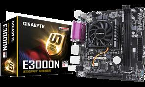 (1014794) Материнская плата Gigabyte GA-E3000N 2xDDR3 mini-ITX AC`97 8ch(7.1) GbLAN+VGA+HDMI