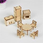 """(1014913) Набор мебели """"Кухня"""" (холод-к, 2 шкафа,кух.плита, стир.машина, стол, стулья 4 шт) 1460964"""