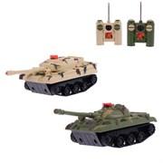 """(1014946) Танковый бой """"Танковое сражение"""", на радиоуправлении, 2 танка, свет и звук 2289424"""