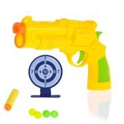 """(1015015) Пистолет """"Патрульный"""", с мишенью, стреляет шариками и мягкими пулями МИКС 2952429"""