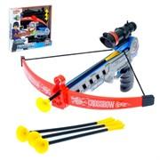"""(1015038) Арбалет """"Спорт"""", стреляет присосками, с лазерным прицелом, работает от батареек   3537903"""
