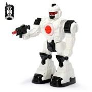 """(1015053) Робот радиоуправляемый """"Космосолдат"""", работает от батареек, свет звук, стреляет   3659159"""